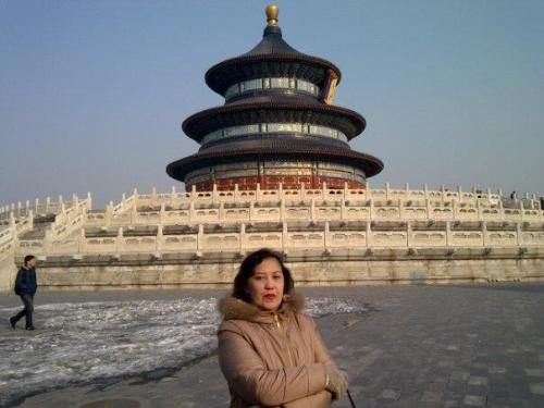 Mom at Beijing - Visiting her parents' birthplace in China
