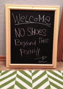 Shoes Off Sign